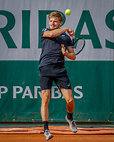 Paris, France, 27 May, 2018, Tennis, French Open, Roland Garros, David Goffin (BEL)<br /> Photo: Henk Koster/tennisimages.com