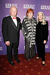 """Glorya Kaufman (center) and guests arrive at the Alvin Ailey American Dance Theater """"Modern American Songbook"""" opening night gala benefit at the New York City Center on November 29, 2017."""