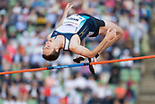 June 15th 2017, Bislett Stadion , Oslo, Norway; Diamond League Oslo Bislett Games;  Michael Mason of Canada competes in the men´s high jump during the IAAF Diamond League held at the Bislett Stadium