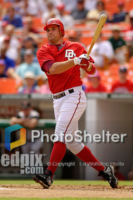 3 September 2006: Ryan Zimmerman, third baseman for the Washington Nationals, at bat against the Arizona Diamondbacks. The Nationals defeated the Diamondbacks 5-3 at Robert F. Kennedy Memorial Stadium in Washington, DC. The win marked the fourth straight game in which the Nationals came back from a  two or more run deficit after seven innings of play - a feat last accomplished by the 1923 New York Giants.Mandatory Photo Credit: Ed Wolfstein.