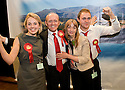 07/05/2010   Copyright  Pic : James Stewart.sct_js009_ochil_south_perthshire_count  .::  SCOTTISH LABOUR PARTY CANDIDATE, GORDON BANKS CELEBRATES WINNING THE OCHIL & SOUTH PERTHSHIRE ELECTION WITH DAUGHTER VICTORIA, WIFE LYNDA AND SON DOMINIC ::  .James Stewart Photography 19 Carronlea Drive, Falkirk. FK2 8DN      Vat Reg No. 607 6932 25.Telephone      : +44 (0)1324 570291 .Mobile              : +44 (0)7721 416997.E-mail  :  jim@jspa.co.uk.If you require further information then contact Jim Stewart on any of the numbers above.........