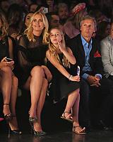 MIAMI, FL - JUNE 02: Valeria Mazza, Alejandro Gravier and Tatiana Gravier attend the Custo Barcelona Runway Show during Miami Fashion Week at the Ice Palace Studios on June 2, 2018 in Miami Florida. <br /> CAP/MPI04<br /> &copy;MPI04/Capital Pictures
