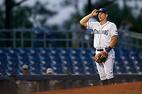 Charlotte Stone Crabs third baseman Kevin Padlo (11) during a game against the Palm Beach Cardinals on April 20, 2018 at Charlotte Sports Park in Port Charlotte, Florida.  Charlotte defeated Palm Beach 4-3.  (Mike Janes/Four Seam Images)