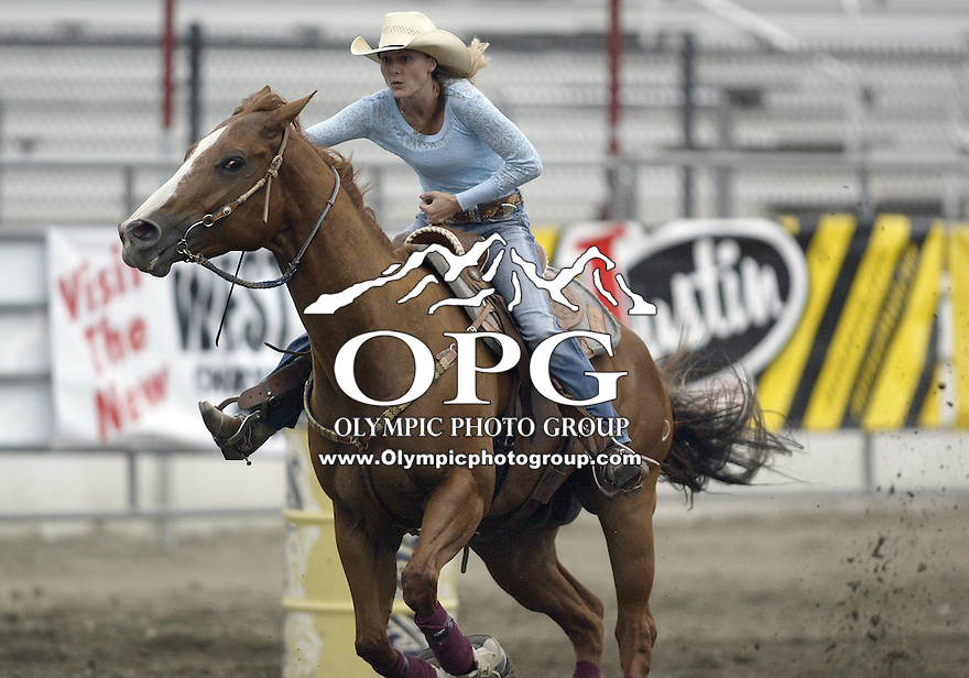 29 Aug 2009:   Lindsay Sears scored a time of 17.48 in the Barrel racing competition at the Wrangler Million Dollar Pro Rodeo Silver Tour PRCA Pro Rodeo held in Bremerton, Washington.