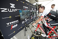 virtual (international) group-ride with Team Trek-Segafredo ahead of the 2016 Tour de France via the ZWIFT training/online game with riders: Markel Irizar (ESP/Trek-Segafredo), Jasper Stuyven (BEL/Trek-Segafredo) & Peter Stetina (USA/Trek-Segafredo)