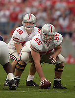 01 November 2003: Nick Mangold (55)..Ohio State defeated Penn State 21-20  at Beaver Stadium in State College, PA..Mandatory Credit: Randy Litzinger/Icon SMI..