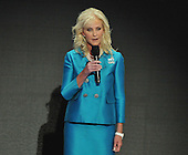 St. Paul, MN - September 4, 2008 -- Cindy McCain speaks about her husband, United States Senator John McCain (Republican of Arizona) on day 4 of the 2008 Republican National Convention at the Xcel Energy Center in St. Paul, Minnesota on Thursday, September 4, 2008..Credit: Ron Sachs / CNP.(RESTRICTION: NO New York or New Jersey Newspapers or newspapers within a 75 mile radius of New York City)