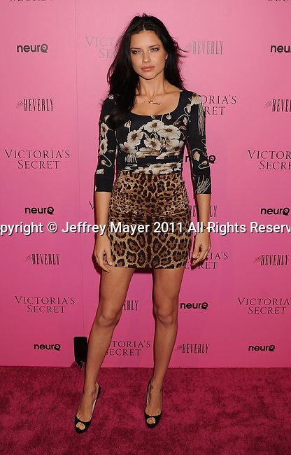 "LOS ANGELES, CA - MAY 12: Adriana Lima arrives to the Victoria's Secret 6th Annual ""What Is Sexy? List: Bombshell Summer Edition"" Pink Carpet Event at The Beverly on May 12, 2011 in Los Angeles, California."
