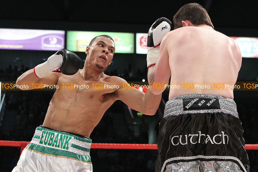 Chris Eubank Jr vs Paul Allison in a boxing contest at the Odyssey Arena, Belfast, promoted by Hennessy Sports - 14-04-12 - MANDATORY CREDIT: Chris Royle/TGSPHOTO - Self billing applies where appropriate - 0845 094 6026 - contact@tgsphoto.co.uk - NO UNPAID USE..