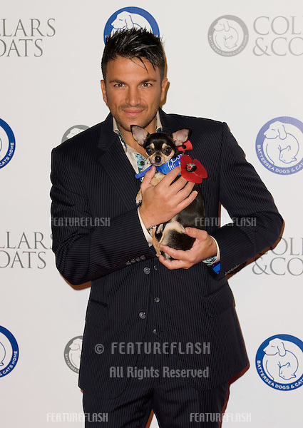 Peter Andre at Battersea Evolution for the 2011 Collars & Coats Ball on behalf of the Battersea Dogs Home..London 11th Nov 2011.Pics by Simon Burchell / Featureflash