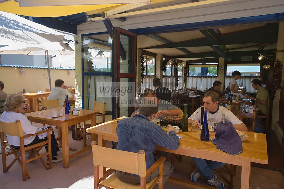 """Europe/France/Aquitaine/64/Pyrénées-Atlantiques/Pays Basque/ Bidart:A la terrasse du  restaurant """"La Cucaracha"""""""