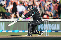 New Zealand's Martin Guptill batting. New Zealand Blackcaps v England. One Day International Cricket. Seddon Park, Hamilton, New Zealand on Sunday 25 February 2018.<br /> <br /> Copyright photo: &copy; Bruce Lim / www.photosport.nz