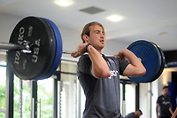 Max Clark of Bath Rugby in the gym. Bath Rugby pre-season training on July 28, 2017 at Farleigh House in Bath, England. Photo by: Patrick Khachfe / Onside Images