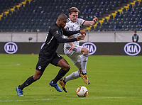 Almamy Touré (Eintracht Frankfurt) gegen Fabian Frei (FC Basel) - 12.03.2020: Eintracht Frankfurt vs. FC Basel, UEFA Europa League, Achtelfinale, Commerzbank Arena<br /> DISCLAIMER: DFL regulations prohibit any use of photographs as image sequences and/or quasi-video.