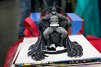 NEW YORK, USA - October 3: A batman figurine is seen during day 1 of NYC Comic Con on October 3, 2019 in New York, USA.<br /> The 2019 New York Comic-Con at the Jacob K. Javits Convention Center Day 1 with the latest in superhero movies, sci-fi shows, animation, video games, comic book releases available to attendees.<br /> (Photo by Luis Boza/VIEWpress/Corbis via Getty Images)