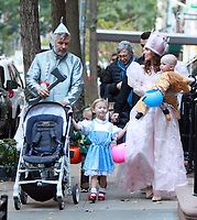 NEW YORK, NY October 31, 2017  Alec Baldwin, Rafaei Baldwin,, Carmen Baldwin, Hilaria Thomas, Leonardo Angel Charles Badwin dress for Halloween in New York October 31,  2017. Credit:RW/MediaPunch