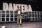 Pantera - singer Phil Anselmo - performing live at the Monsters of Rock festival at Castle Donington Leicestershire UK - 04 Jun 1994.  Photo credit: George Chin/IconicPix