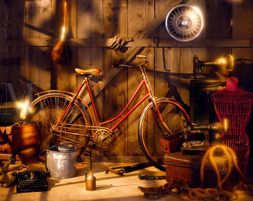 Nostalgic garage items.