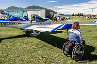 "WeFly team: L'unica pattuglia al mondo su velivoli ultraleggeri composta da piloti disabili, rappresentanti dei ""BARONI ROTTI""<br /> Marco Cherubini a fianco del suo aereo.<br /> <br /> The only FLYING TEAM on microlight composed by disabled pilot in the world, representatives of the BARONI ROTTI<br /> Marco Cherubini near his airplane."