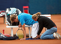 2013,September 2,Netherlands, Alphen aan den Rijn,  TEAN, Tennis, Tean 2013, Tean International ,   Michel Dornbusch receives treatment<br /> Photo: Henk Koster