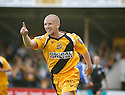 Andy Parkinson of Cambridge United celebrates after scoring the second goal during the Blue Square Premier match between Cambridge United and Gateshead at the Abbey Stadium, Cambridge on 29th August, 2009..© Kevin Coleman 2009 ....