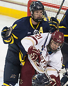 Marc Biega (Merrimack - 4), Matthew Gaudreau (BC - 21) - The visiting Merrimack College Warriors defeated the Boston College Eagles 6 - 3 (EN) on Friday, February 10, 2017, at Kelley Rink in Conte Forum in Chestnut Hill, Massachusetts.