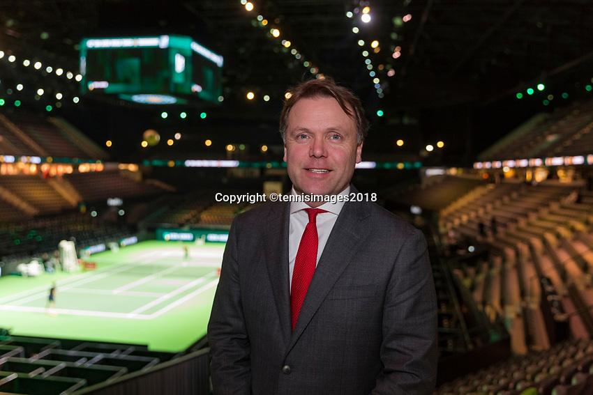 Rotterdam, The Netherlands, 17 Februari, 2018, ABNAMRO World Tennis Tournament, Ahoy, Tennis, Ernst Broekhorst.<br /> <br /> Photo: www.tennisimages.com