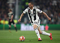 Football Soccer: UEFA Champions UEFA Champions League quarter final second leg Juventus - Ajax, Allianz Stadium, Turin, Italy, March 12, 2019. <br /> Juventus Leonardo Bonucci in action during the Uefa Champions League football match between Juventus and Ajax  at the Allianz Stadium, on March 12, 2019.<br /> UPDATE IMAGES PRESS/Isabella Bonotto