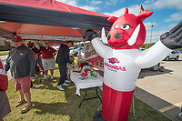 Hawgs Illustrated/BEN GOFF <br /> Fans hang out at the 'HOGmerica' tailgate Wednesday, Oct. 11, 2017, during the Arkansas baseball Fall World Series scrimmage at Baum Stadium in Fayetteville.