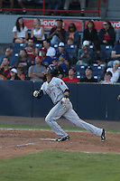 Rod Boykin (1) of the Tri-City Dust Devils bats during a game against the Vancouver Canadians at Nat Bailey Stadium on July 23, 2015 in Vancouver, British Columbia. Tri-City defeated Vancouver, 6-4. (Larry Goren/Four Seam Images)
