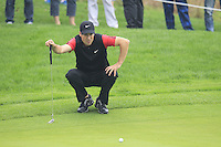 Ross Fisher (ENG) on the 5th green during Saturay's Round 3 of the 2014 BMW Masters held at Lake Malaren, Shanghai, China. 1st November 2014.<br /> Picture: Eoin Clarke www.golffile.ie