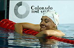 GUADALAJARA, MEXICO - OCTOBER 16:  Estela Davis of Mexico competes in the Women's 100M Backstroke Final during Day Two of the XVI Pan American Games at Scotiabank Aquatics Center on October 16, 2011 in Guadalajara, Mexico.  (Photo by Donald Miralle for Mexsport) *** Local Caption ***