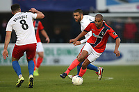 Remy Clerima of Maidenhead and Joan Luque of Dagenham during Dagenham & Redbridge vs Maidenhead United, Vanarama National League Football at the Chigwell Construction Stadium on 7th December 2019