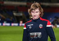 Bolton Wanderers' Luca Connell warming up before the match <br /> <br /> Photographer Andrew Kearns/CameraSport<br /> <br /> The EFL Sky Bet Championship - Bolton Wanderers v West Bromwich Albion - Monday 21st January 2019 - University of Bolton Stadium - Bolton<br /> <br /> World Copyright © 2019 CameraSport. All rights reserved. 43 Linden Ave. Countesthorpe. Leicester. England. LE8 5PG - Tel: +44 (0) 116 277 4147 - admin@camerasport.com - www.camerasport.com