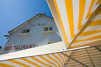 "Europe/France/Bretagne/56/Morbihan/Belle-Ile/ Sauzon: Hotel-Restaurant "" Roz-Avel"" la terrasse"