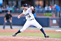 Asheville Tourists starting pitcher Brandon Gold (18) delivers a pitch during a game against the Rome Braves at McCormick Field on May 22, 2017 in Asheville, North Carolina. The Braves defeated the Tourists 7-3. (Tony Farlow/Four Seam Images)