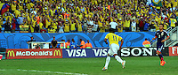 CUIABA - BRASIL -24-06-2014. Juan Cuadrado (#11) jugador de Colombia (COL) celebra un gol anotado a Japón (JPN) durante partido del Grupo C de la Copa Mundial de la FIFA Brasil 2014 jugado en el estadio Arena Pantanal de Cuiaba./ Juan Cuadrado (#11) player of Colombia (COL) celebrates a goal scored to Japan (JPN) during the macth of the Group C of the 2014 FIFA World Cup Brazil played at Arena Pantanal stadium in Cuiaba. Photo: VizzorImage / Alfredo Gutiérrez / Contribuidor