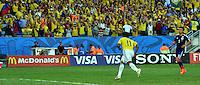CUIABA - BRASIL -24-06-2014. Juan Cuadrado (#11) jugador de Colombia (COL) celebra un gol anotado a Japón (JPN) durante partido del Grupo C de la Copa Mundial de la FIFA Brasil 2014 jugado en el estadio Arena Pantanal de Cuiaba./ Juan Cuadrado (#11) player of Colombia (COL) celebrates a goal scored to Japan (JPN) during the macth of the Group C of the 2014 FIFA World Cup Brazil played at Arena Pantanal stadium in Cuiaba. Photo: VizzorImage / Alfredo Gutiérrez / Contribuidor