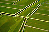 Aerial view grassy landscape waterways in central New Jersey