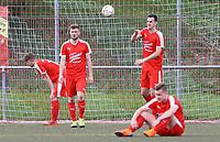 Frust bei der SKV Büttelborn nach der Niederlage in letzter Sekunde - Büttelborn 15.04.2018: SKV Büttelborn vs. SG Unter-Abtsteinach