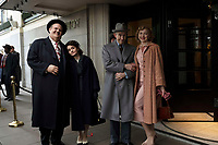 STAN &amp; OLLIE (2018)<br /> Left to right: John C. Reilly as Oliver Hardy, Shirley Henderson as Lucille Hardy, Steve Coogan as Stan Laurel, Nina Arianda as Ida Laurel<br /> *Filmstill - Editorial Use Only*<br /> CAP/FB<br /> Image supplied by Capital Pictures