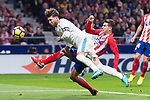 Atletico de Madrid Lucas Hernanez and Real Madrid Sergio Ramos during La Liga match between Atletico de Madrid and Real Madrid at Wanda Metropolitano in Madrid, Spain. November 18, 2017. (ALTERPHOTOS/Borja B.Hojas)