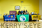To Mark the 5th birthday of O'Brennan NS Kielduff new Building the raising of 3 flags on Friday Active school Flag, a third Green Flag for water and Junior Entrepreneur Pictured Bob Fitzgerald (Chairman of the Board of Management), Billy Leen,  Mary Leen , Kerry Rose, Breda O'Mahony and  Members of the Flag committee