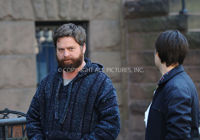 WWW.ACEPIXS.COM . . . . .  ....**EXCLUSIVE ALL ROUNDER**....April 17 2009, New York City....Actors Zach Galifianakis and Jason Schwartzman on the Brooklyn set of the new movie 'Bored to Death' on April 17 2009 in New York City. ....Please byline: AJ Sokalner - ACEPIXS.COM..... *** ***..Ace Pictures, Inc:  ..tel: (212) 243 8787..e-mail: info@acepixs.com..web: http://www.acepixs.com