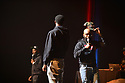MIAMI, FL - DECEMBER 15: Comedian Chico Bean, Karlous Miller and DC Young Fly perform on stage during the 85 South improvs roasting and freestyles comedy show at James L. Knight Center on December 15, 2019 in Miami, Florida.  ( Photo by Johnny Louis / jlnphotography.com )