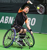 Rotterdam, The Netherlands, 14 Februari 2019, ABNAMRO World Tennis Tournament, Ahoy, Wheelchair, doubles, Alfie Hewett (GBR),<br /> Photo: www.tennisimages.com/Henk Koster