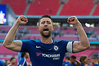 Chelsea's Gary Cahill celebrates <br /> <br /> Photographer Craig Mercer/CameraSport<br /> <br /> Emirates FA Cup Final - Chelsea v Manchester United - Saturday 19th May 2018 - Wembley Stadium - London<br />  <br /> World Copyright &copy; 2018 CameraSport. All rights reserved. 43 Linden Ave. Countesthorpe. Leicester. England. LE8 5PG - Tel: +44 (0) 116 277 4147 - admin@camerasport.com - www.camerasport.com