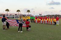 LAKEWOOD RANCH, FL - December 2, 2018: USMNT Under-17 Men's National Team vs Brazil. The 2018 Nike International Friendlies at Premier Sports Campus.