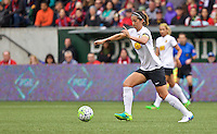 Portland, Oregon - Sunday October 2, 2016: Western New York Flash midfielder Abby Erceg (6) during a semi final match of the National Women's Soccer League (NWSL) at Providence Park.