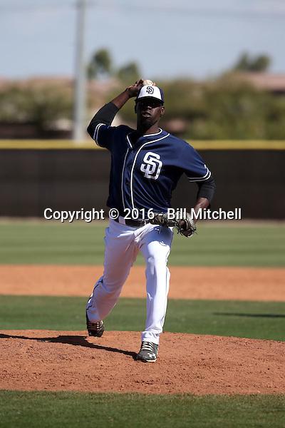 Rafael De Paula - San Diego Padres 2016 spring training (Bill Mitchell)